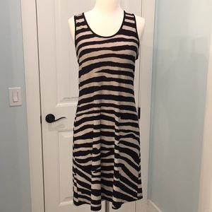Calvin Klein t-back sundress in Black and Tan